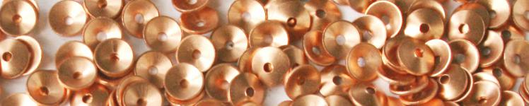 Copper washer for riveting